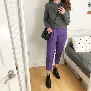 Vintage High Waisted Pleated Purple Parisian Pants